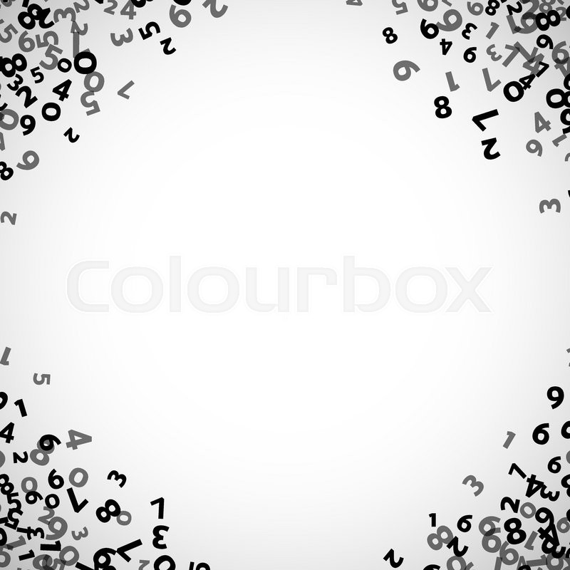 Abstract math number background. Vector illustration for business ...