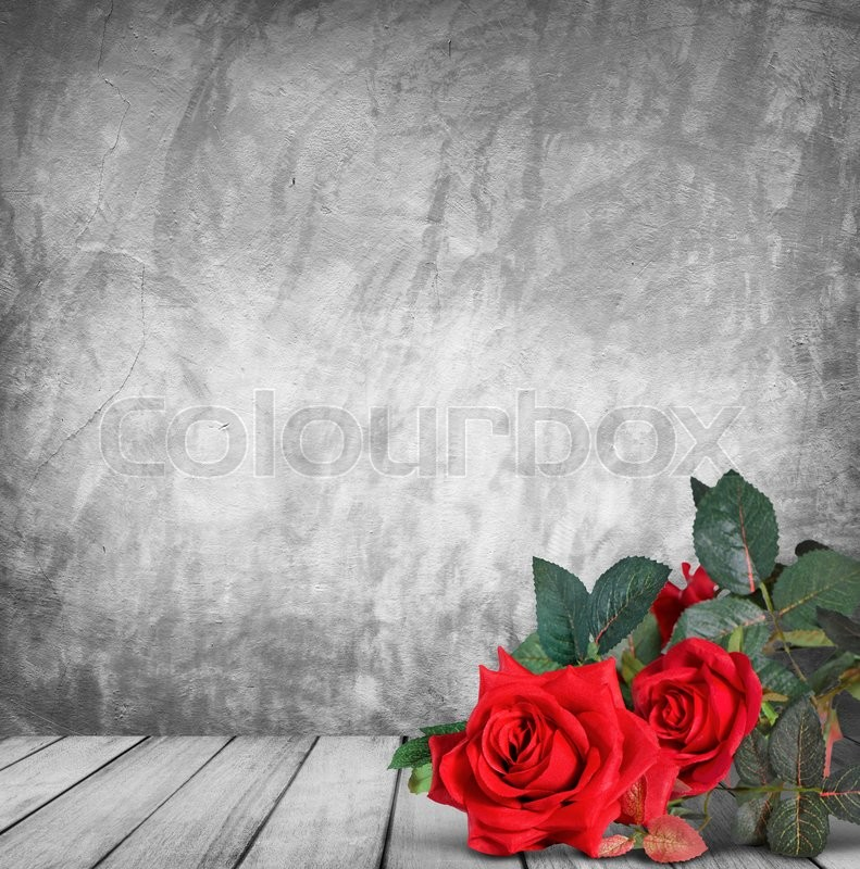 Stock image of 'Valentine's day background with red roses'