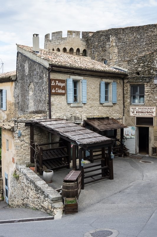 Editorial image of 'GORDES, FRANCE - MAY 03, 2015: Street of medieval village of GORDES, which is included in list of \