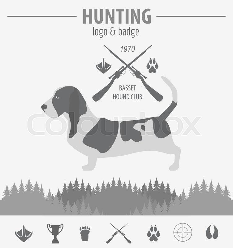Hunting dog logo design