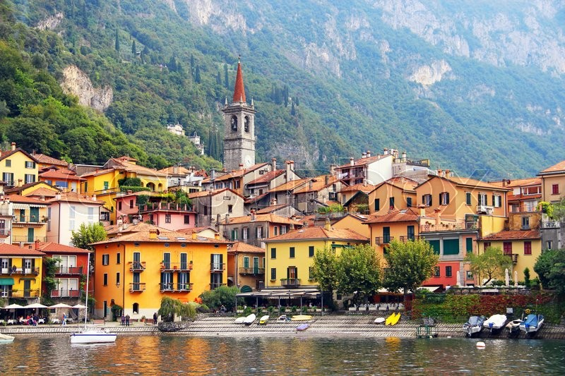 Stock image of 'Varenna town on Como lake in Italy'