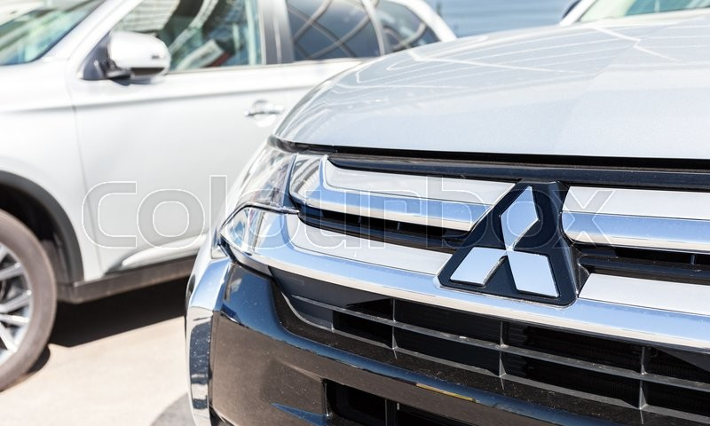 Editorial image of 'SAMARA, RUSSIA - MAY 14, 2016: Vehicles Mitsubishi near the office of official dealer. Mitsubishi Motors Corporation is a Japanese automotive manufacturer'