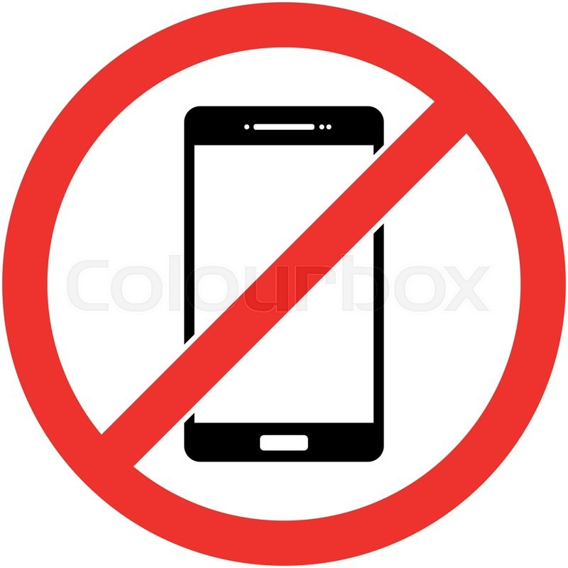no phone, telephone, cellphone and smartphone prohibited symbol