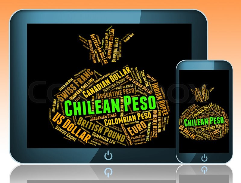 Stock image of 'Chilean Peso Representing Worldwide Trading And Word'