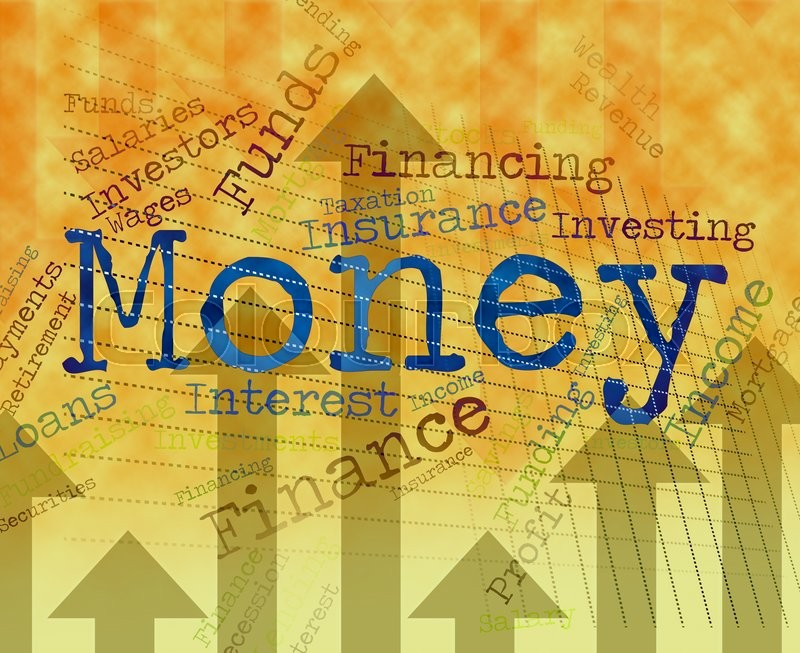Stock image of 'Money Word Indicating Finance Words And Currency '