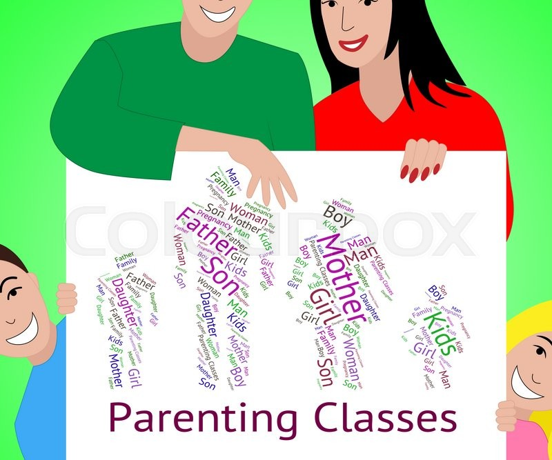 Stock image of 'Parenting Classes Showing Mother And Baby And Mother And Child'