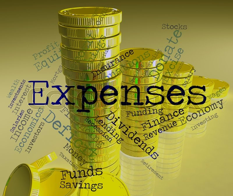 Stock image of 'Expenses Word Shows Expenditure Accounting And Business'