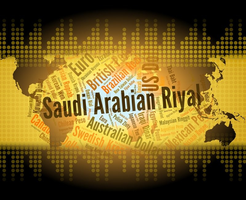 Stock image of 'Saudi Arabian Riyal Means Foreign Currency And Banknote'