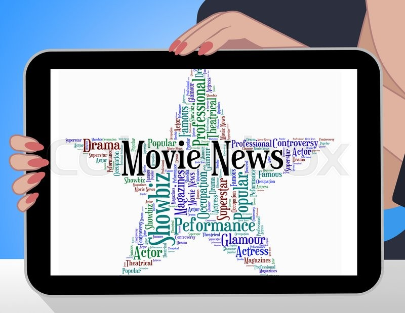 Stock image of 'Movie News Indicates Hollywood Movies And Entertainment'
