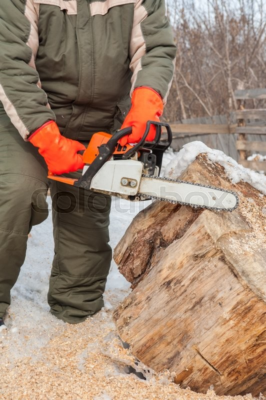 Stock image of 'Carpenter working at sawmill, closeup photo'
