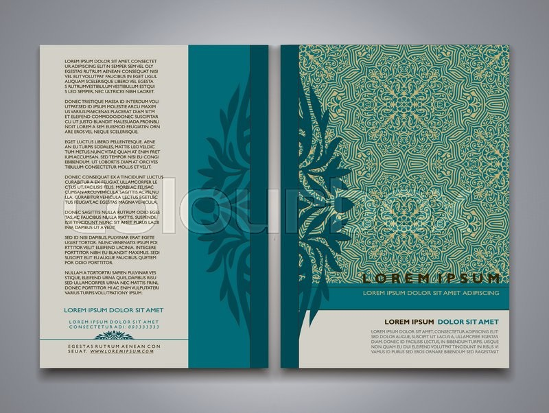 Modern style Brochure and Flyer Design Templates, Creative annual ...