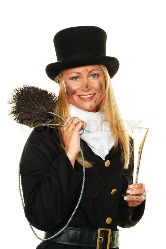 Woman As A Chimney Sweep Lucky New Year S Eve And New