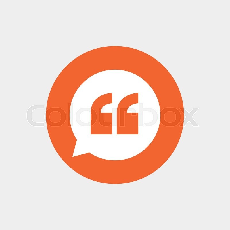 Quote Sign Icon Quotation Mark In Speech Bubble Symbol Double Stunning Quote Symbol