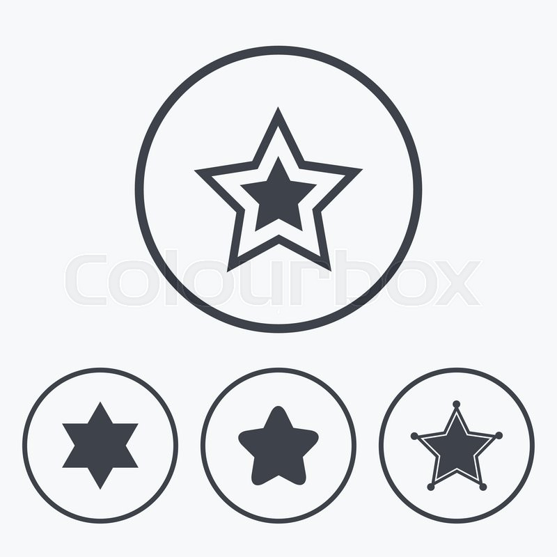 Star Of David Icons Sheriff Police Sign Symbol Of Israel Icons In