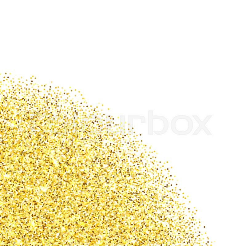 gold glitter texture corner border over white background abstract golden sparkles of confetti vector illustration with room for your text