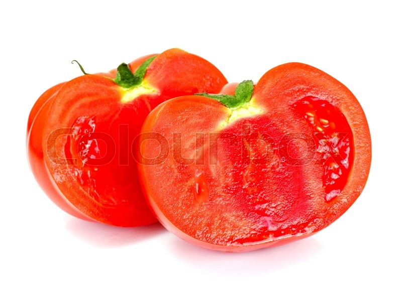 Stock image of 'Red Tomatoes Isolated on a White Background Studio Photo'