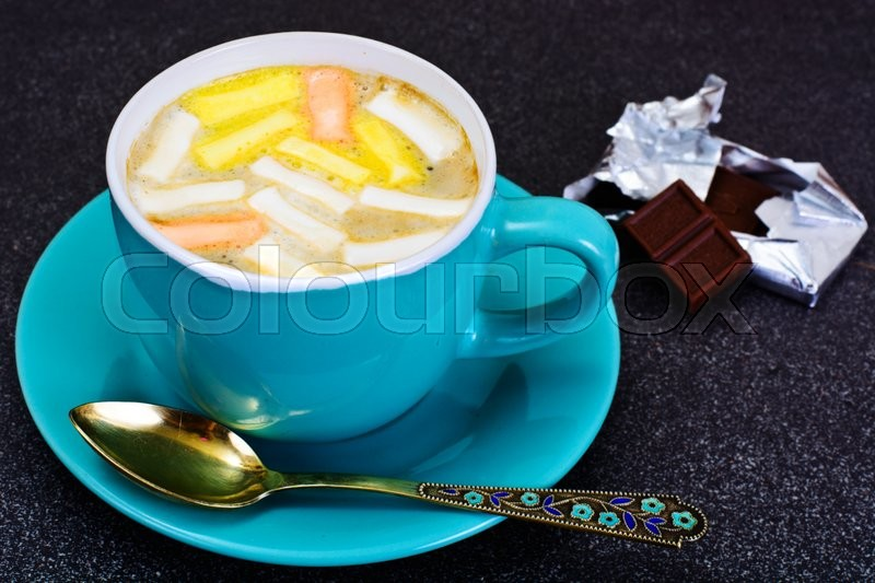 Stock image of 'Cocoa, Coffee with Marshmallows Sweet Food Studio Photo'