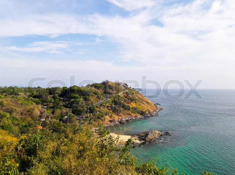 Stock image of 'Windmill Viewpoint in Phuket ,Thailand.'