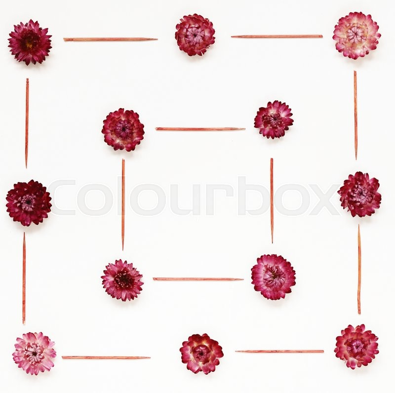 Stock image of 'Colourful bright pattern made of red flowers'
