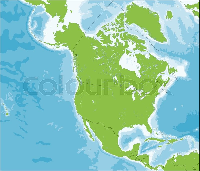 North America is a continent that ... | Stock vector | Colourbox