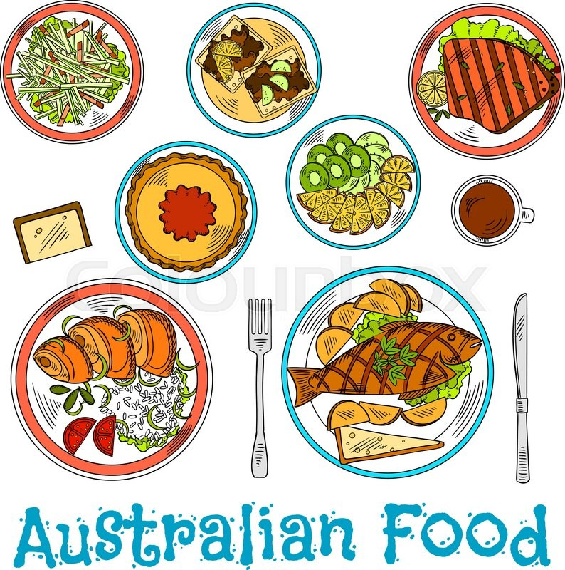 Authentic Australian Dinner Prepared From Local Ingredients Icon