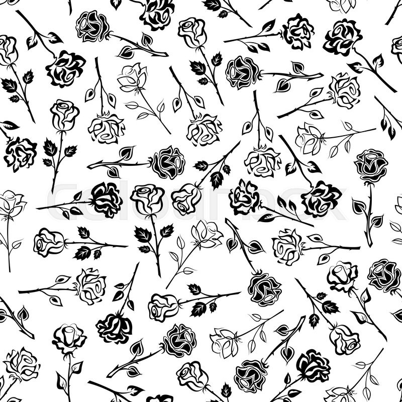 Background Floral Design Black And White