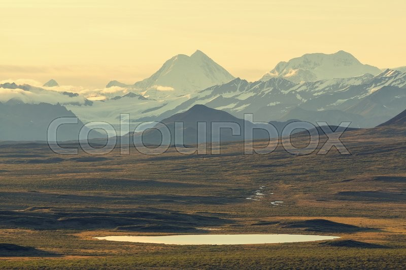 Stock image of 'Mountains in Alaska'