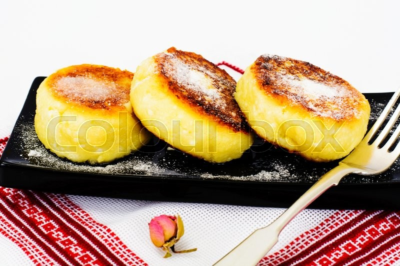 Stock image of 'Healthy and Diet Food: Cheese Cakes. Studio Photo'