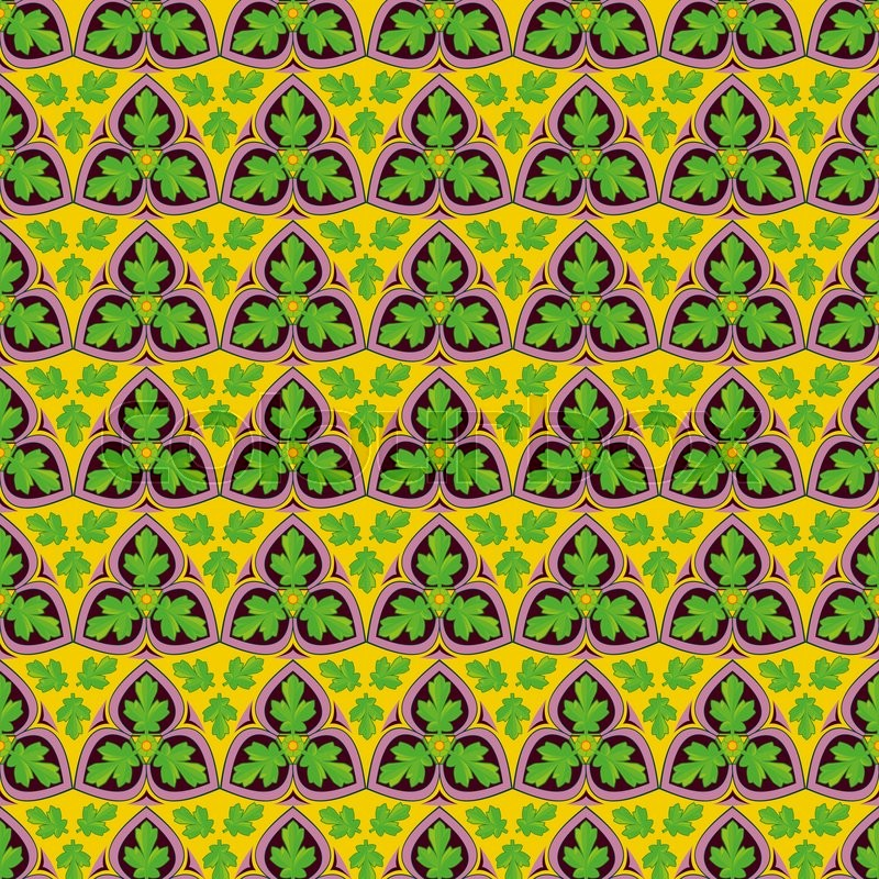 Stock image of 'Abstract  seamless brightly green leaf pattern'