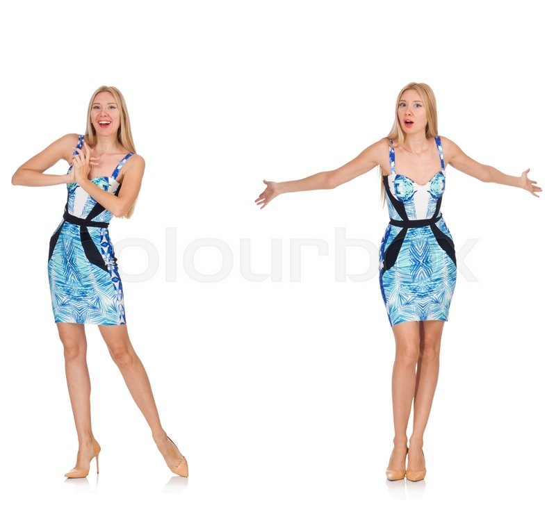 Stock image of 'Composite photo of woman in various poses'