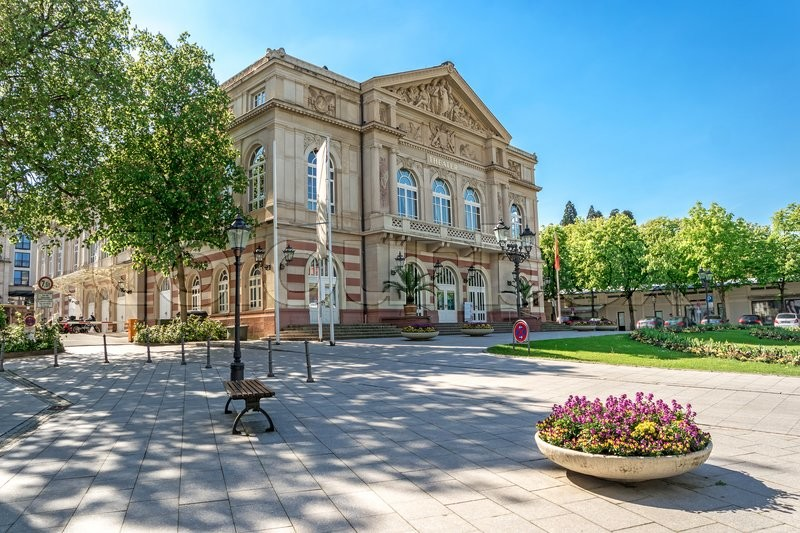 Stock image of 'The theater building. Baden-Baden. Germany. Built in 1860-1862 years'