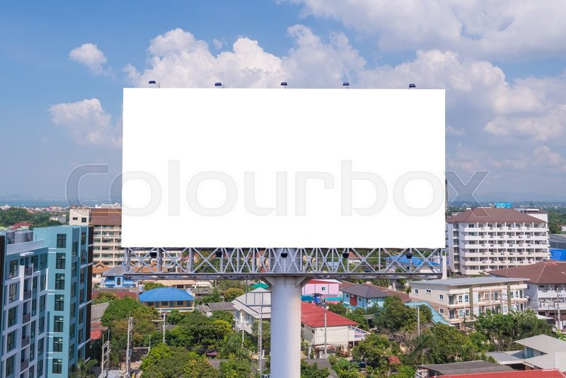 Stock image of 'large Blank billboard ready for new advertisement.'