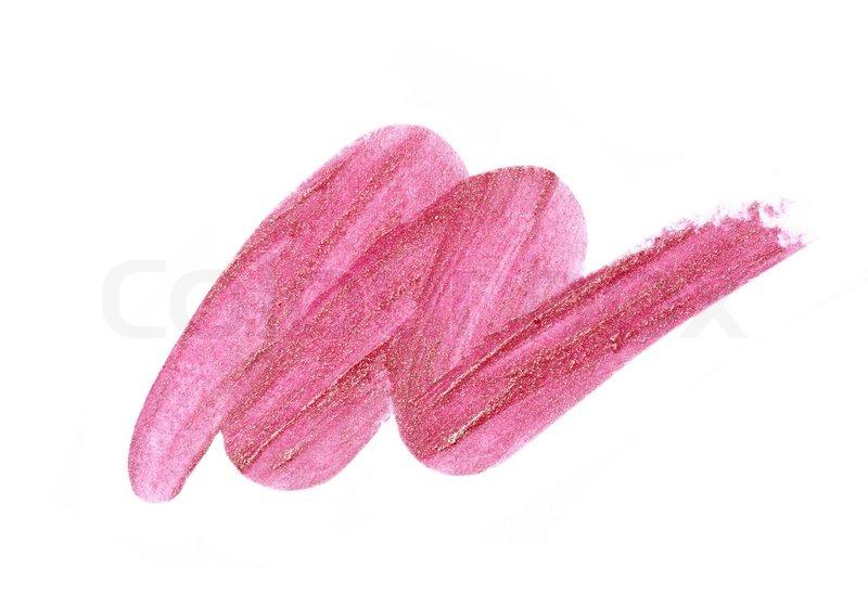Smudged lipstick | Stock Photo | Colourbox