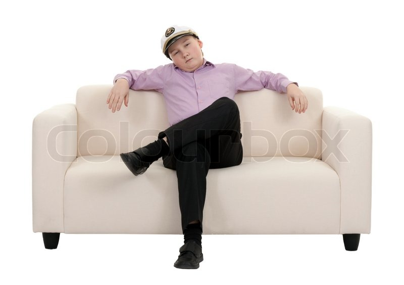 serious young boy wearing a cap captain stock photo. Black Bedroom Furniture Sets. Home Design Ideas