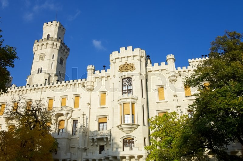 Stock image of 'castle neogothic Hluboka nad Vltavou. Built in the thirteenth century and has undergone several renovations until now look like it is one of the most visited castles in the Czech Republic. Czech Republic'