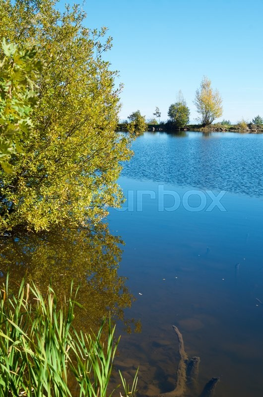 Stock image of 'Lake in Moncayo Natural Park, Zaragoza, Aragon, Spain.'