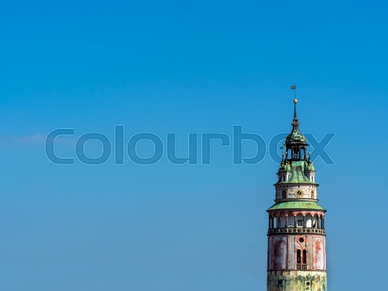 Stock image of 'the czech town of cesky krumlov in southern bohemia'