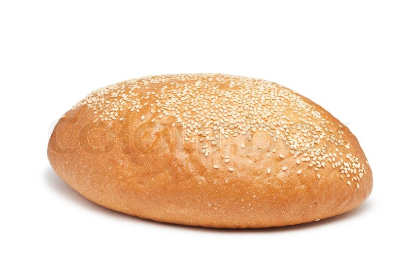 Loaf of bread with sesame isolated over white background | Stock Photo ...