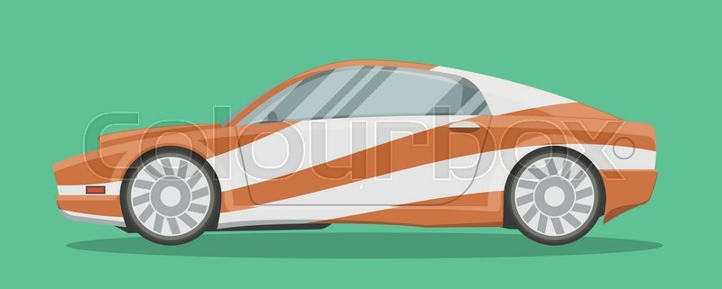 Vector Resizable Modern Sportscar Illustration Brandless Race Car
