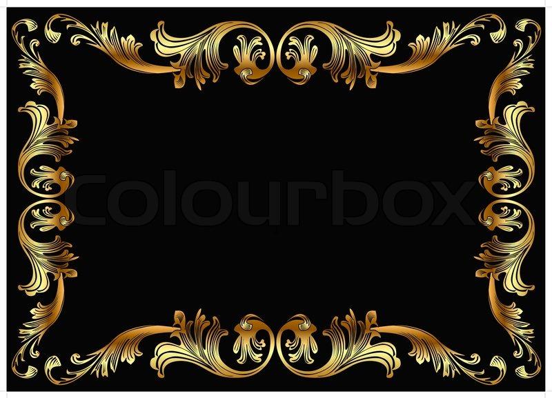 Illustration Hintergrund Rahmen Mit Gem 252 Se Gold En