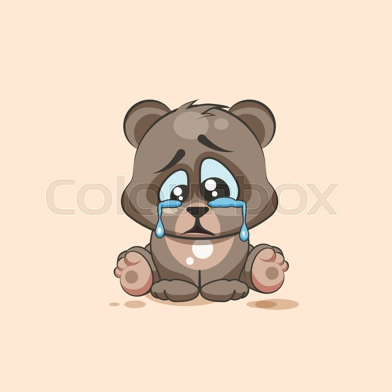 Vector stock illustration isolated emoji character cartoon sad and stock vector of vector stock illustration isolated emoji character cartoon sad and frustrated bear crying voltagebd Choice Image