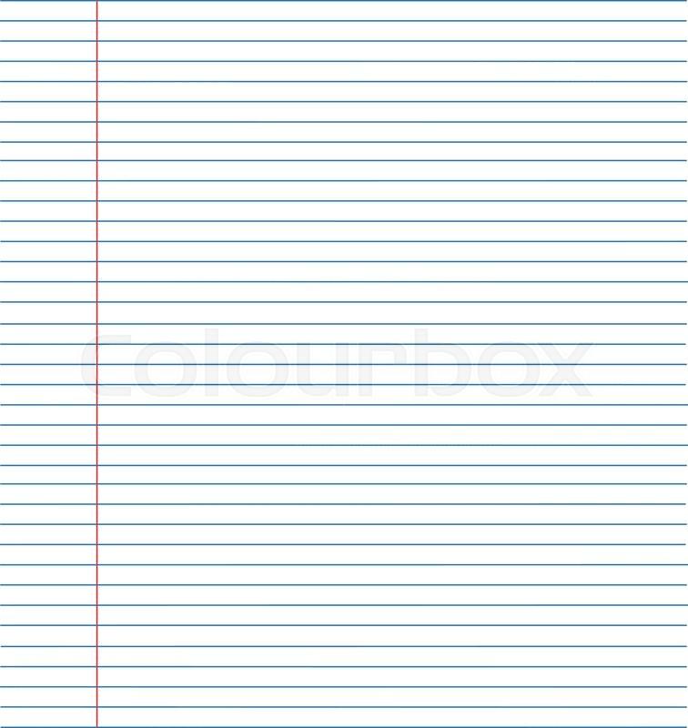 notebook paper background paper in line vector illustration eps