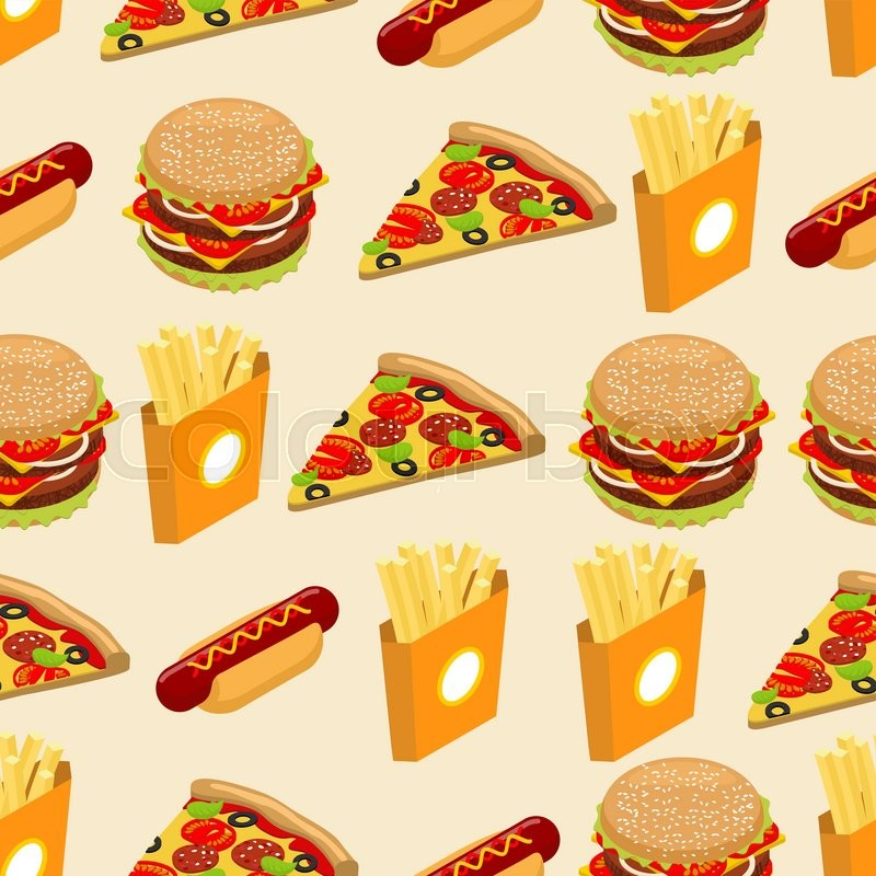 fast food seamless pattern hot dog background juicy big