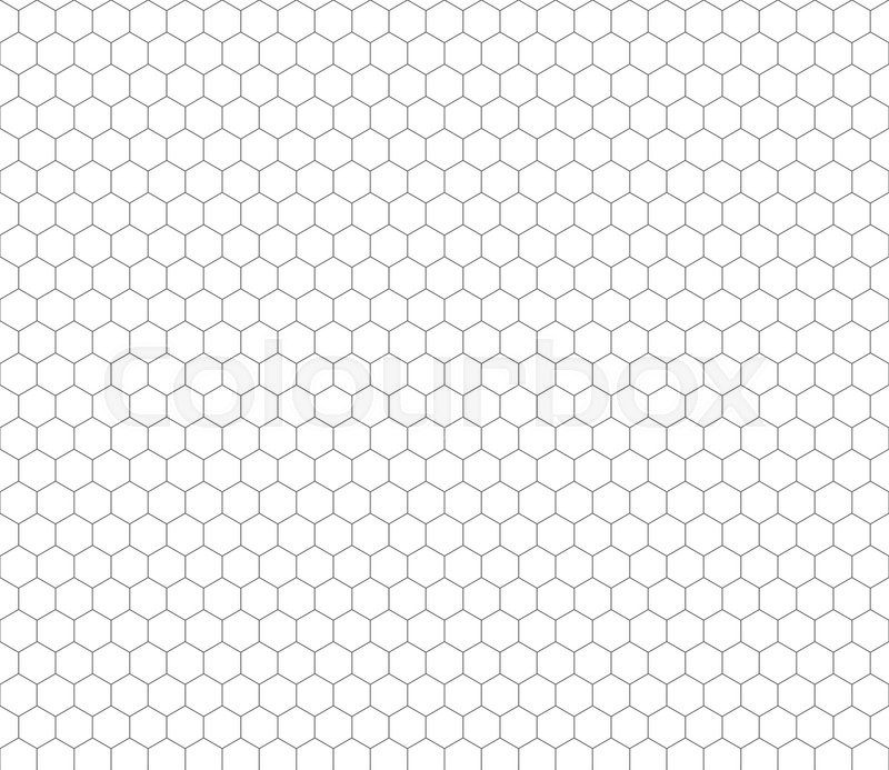 Gray Hexagon Grid On White Seamless Pattern Stock Vector Colourbox