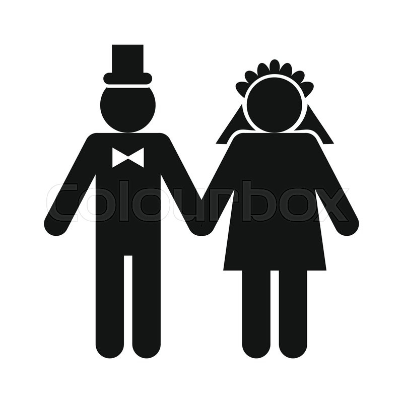 wedding married couple icon on white background stock married couple clipart wedding couple clipart png