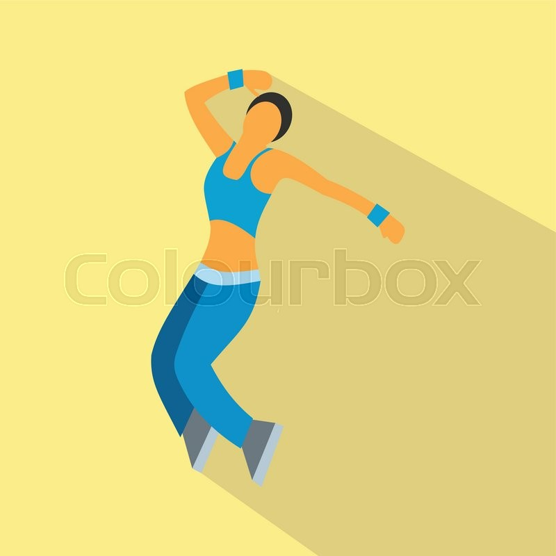 Nice Dance Flat Symbol For Web And Mobile Devices Stock Vector
