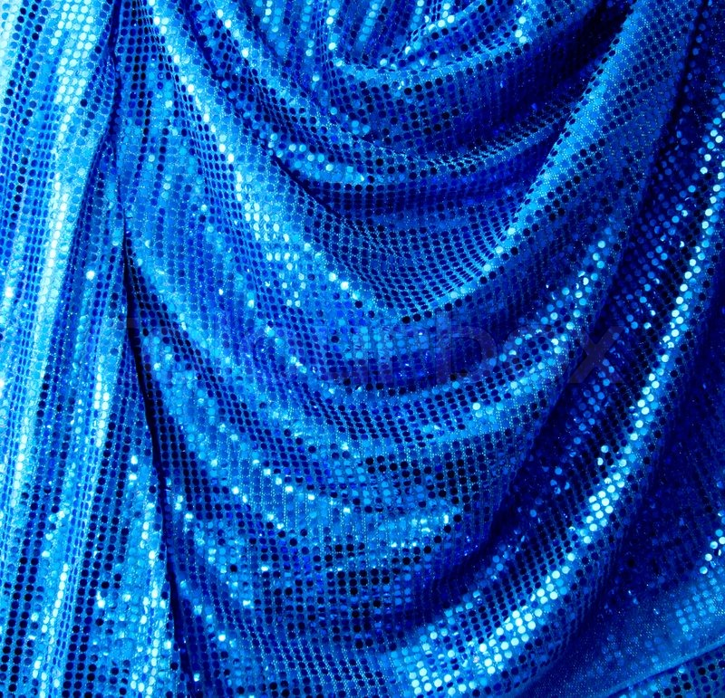 blue disco glitter reflective fabric sparkling background