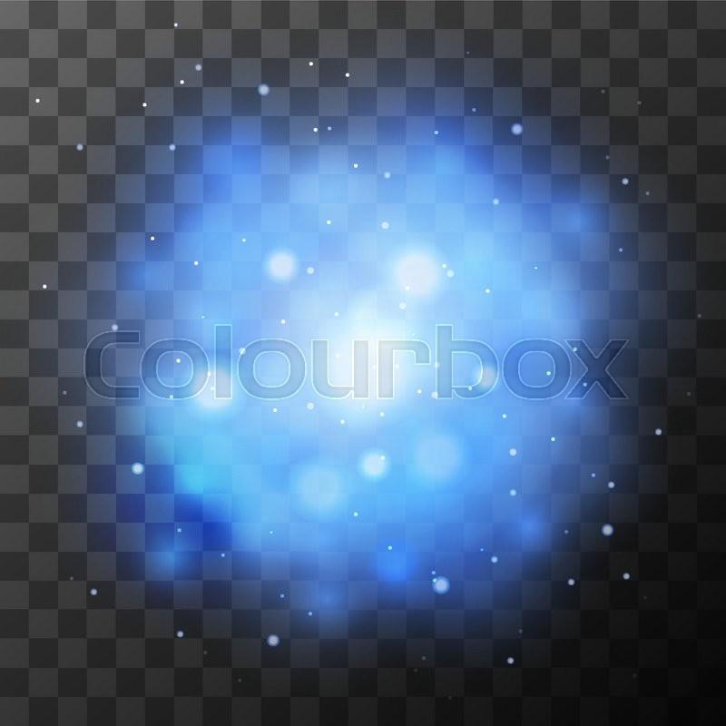 Blue Bright Light Magic Effect In The Dark