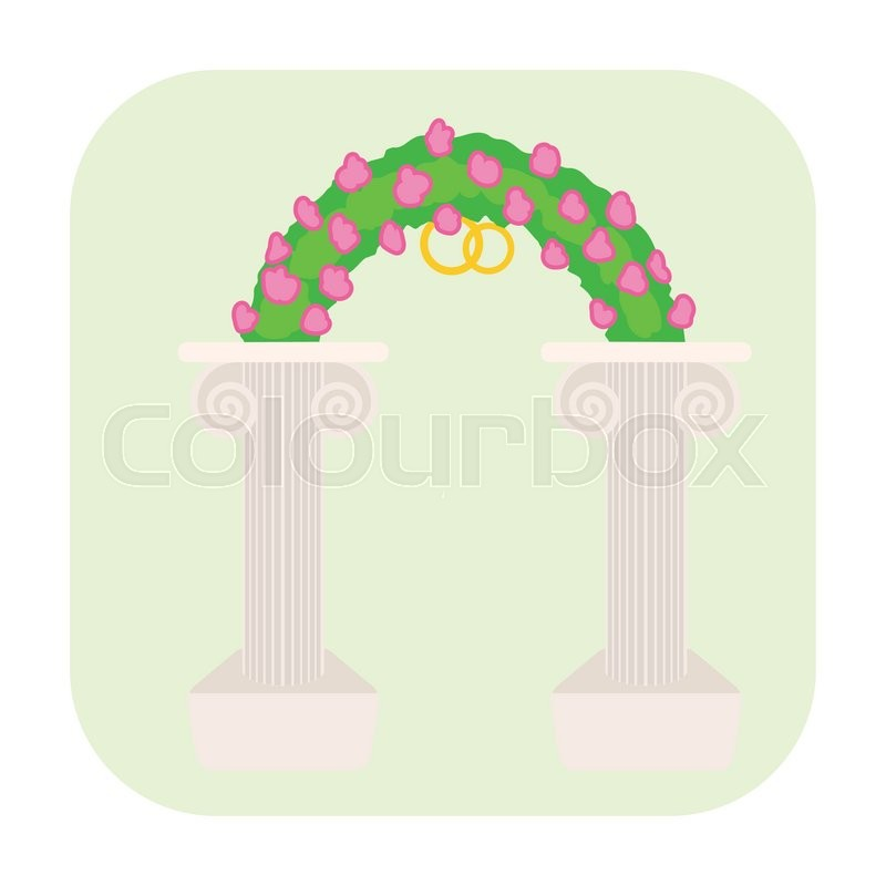 Wedding Altar Cartoon: Wedding Altar Cartoon Icon Isolated On ...