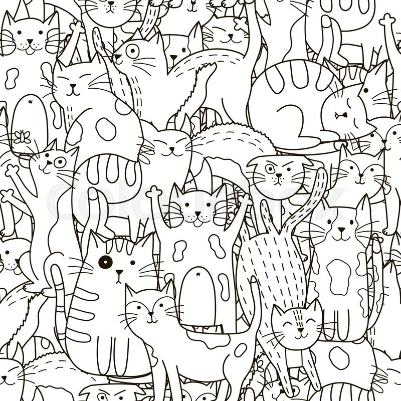 Cat Pictures To Colour In And Print